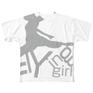 フライングガールG フルグラフィックTシャツ