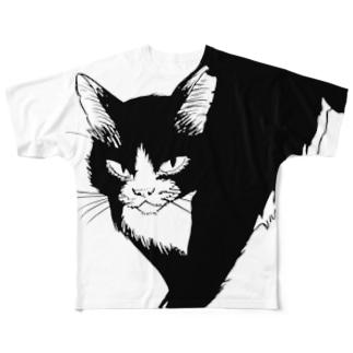 でかねこB フルグラフィックTシャツ