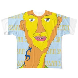 トライバル・タトゥー・オッサン フルグラフィックTシャツ