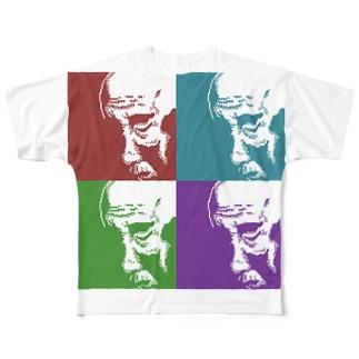 おじいちゃん(四色) フルグラフィックTシャツ