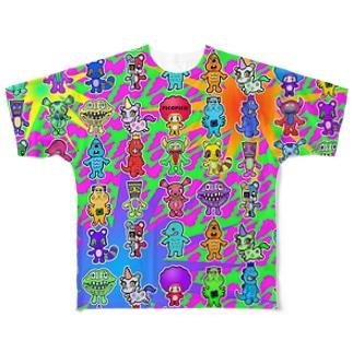 ピコピコオールスター ジャングル Full graphic T-shirts