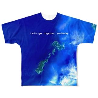 鹿児島県 薩摩川内市 Tシャツ 両面 Full graphic T-shirts