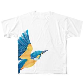 カワセミ フルグラフィックTシャツ