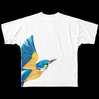 ヒフミ ヨイのカワセミ Full graphic T-shirts