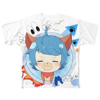 しじみ犬T フルグラフィックTシャツ
