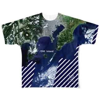 東京都 大島町 Tシャツ 両面 Full graphic T-shirts