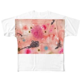 夕暮れの庭で Full graphic T-shirts