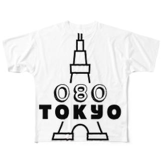 080TOKYO  Full graphic T-shirts