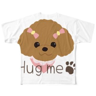 ハグミープードル Full graphic T-shirts