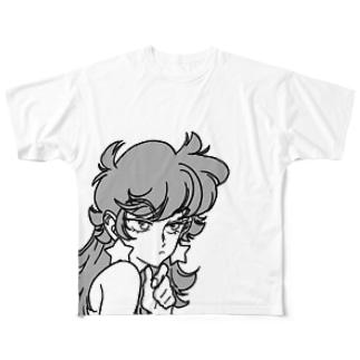 モノクロユメコ Full graphic T-shirts