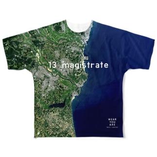 茨城県 ひたちなか市 Tシャツ 片面 Full graphic T-shirts