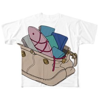 鞄金魚 フルグラフィックTシャツ