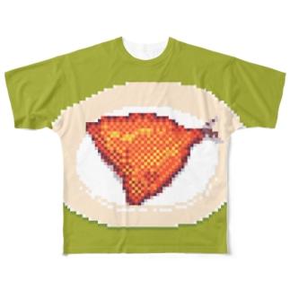 アジフライ フルグラフィックTシャツ