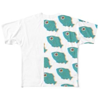 群れ フルグラフィックTシャツ