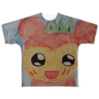愛らしいリスザル Full graphic T-shirts
