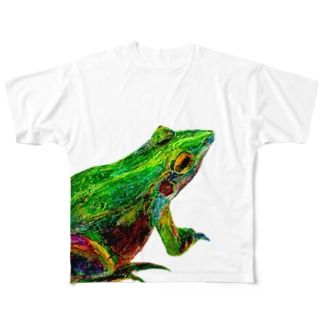 カエル フルグラフィックTシャツ