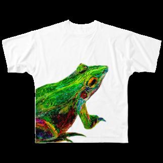 Hesperiidaeのカエル フルグラフィックTシャツ