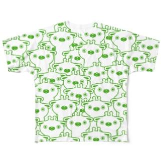 密集きりん Full graphic T-shirts