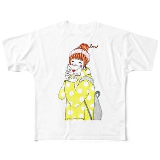 ラブレター フルグラフィックTシャツ