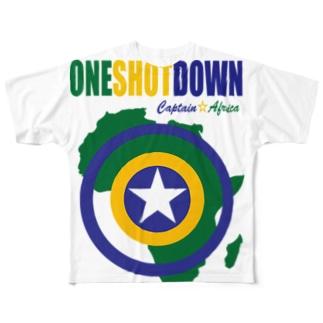 キャプテン☆アフリカ アフリカンシールド (カラー) Full graphic T-shirts