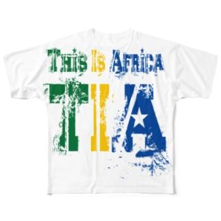 TIA (This is Africa) これがアフリカだぁ!! (カラー) Full graphic T-shirts