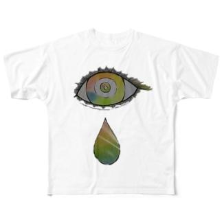 れいんぼー目ん玉 Full graphic T-shirts