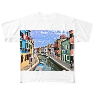ブラーノ島 Full graphic T-shirts