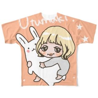 うつまき Full graphic T-shirts