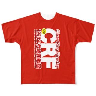 70年代 昭和歌謡 CRF Full graphic T-shirts