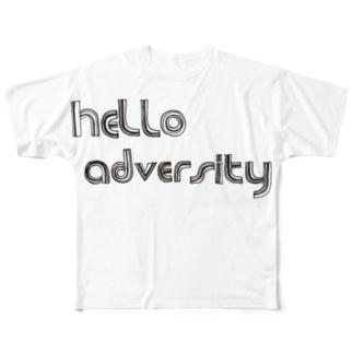 hello adversity Full graphic T-shirts