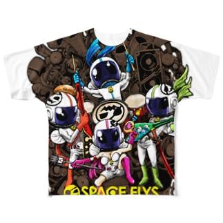 SPACE FLYS フルグラフィックTシャツ