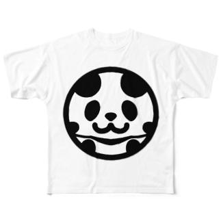まんまるパンダ Full graphic T-shirts