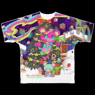 Radio Like hmm...のクリスマスツリー フルグラフィックTシャツ