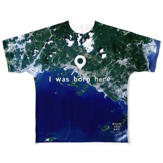 山口県 周南市 Tシャツ 片面 Full graphic T-shirts