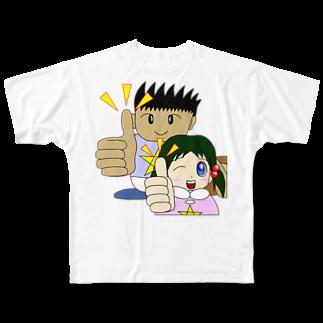 WANPA's STOREのわんぱ君としおりちゃん Full graphic T-shirts