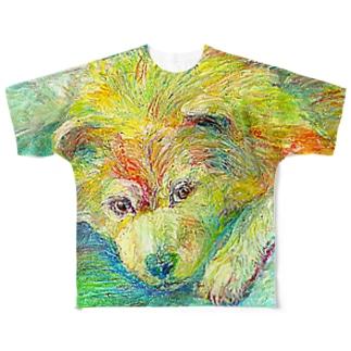 きいろのイヌ フルグラフィックTシャツ