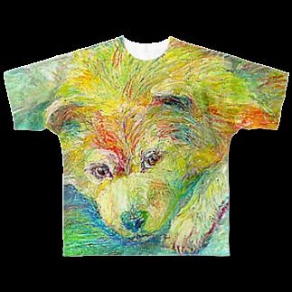 Hesperiidaeのきいろのイヌ フルグラフィックTシャツ
