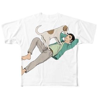 いつも一緒に フルグラフィックTシャツ