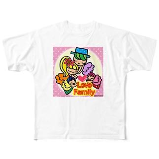 ラブファミリー💗 Full graphic T-shirts