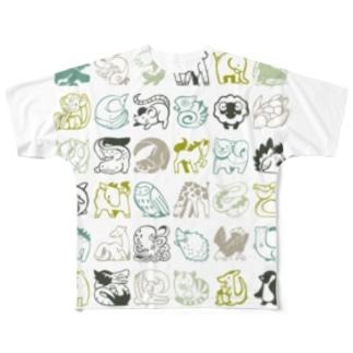 かわいいどうぶつ フルグラフィックTシャツ