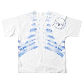 PBM非公式グッズ 肺の大きさを感じるTシャツ Full graphic T-shirts