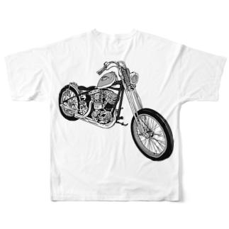 ブルンブルンバイク Full graphic T-shirts