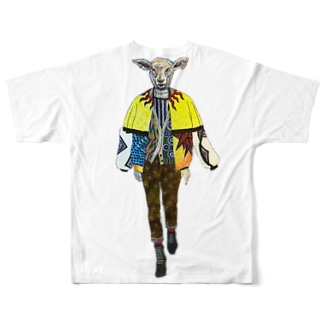 ヒツジ Full graphic T-shirts