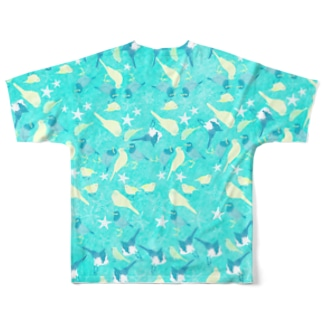 HAWAII BIRDS Full graphic T-shirts