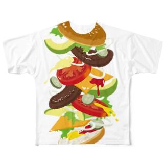 フォーリングハンバーガー Full graphic T-shirts