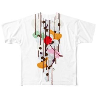 フォーリングあんみつ Full graphic T-shirts