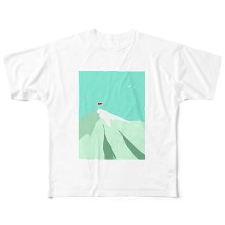 山はいいね Full graphic T-shirts
