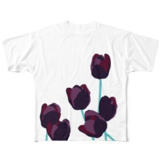 鬱金香/チューリップ Full graphic T-shirts