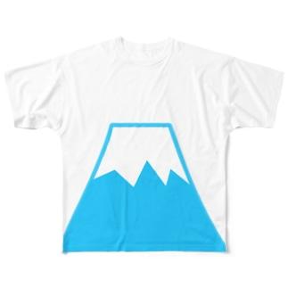 フッジサーン Full graphic T-shirts