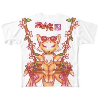 ❀花狐庵❀「ハナコン」鞦韆Ver. Full graphic T-shirts